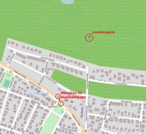 Josefskapelle Umgebungskarte