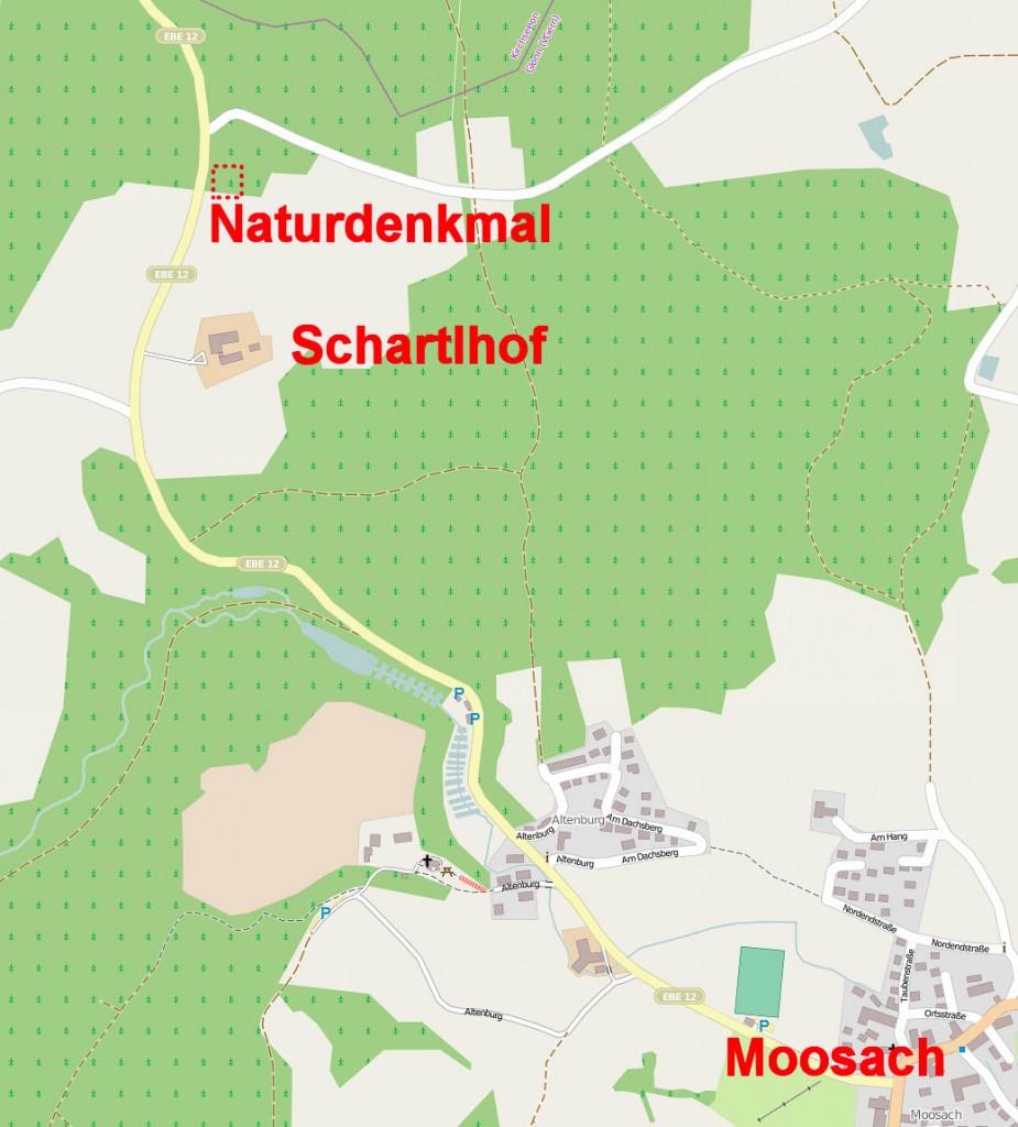 Umgebungskarte Königseiche