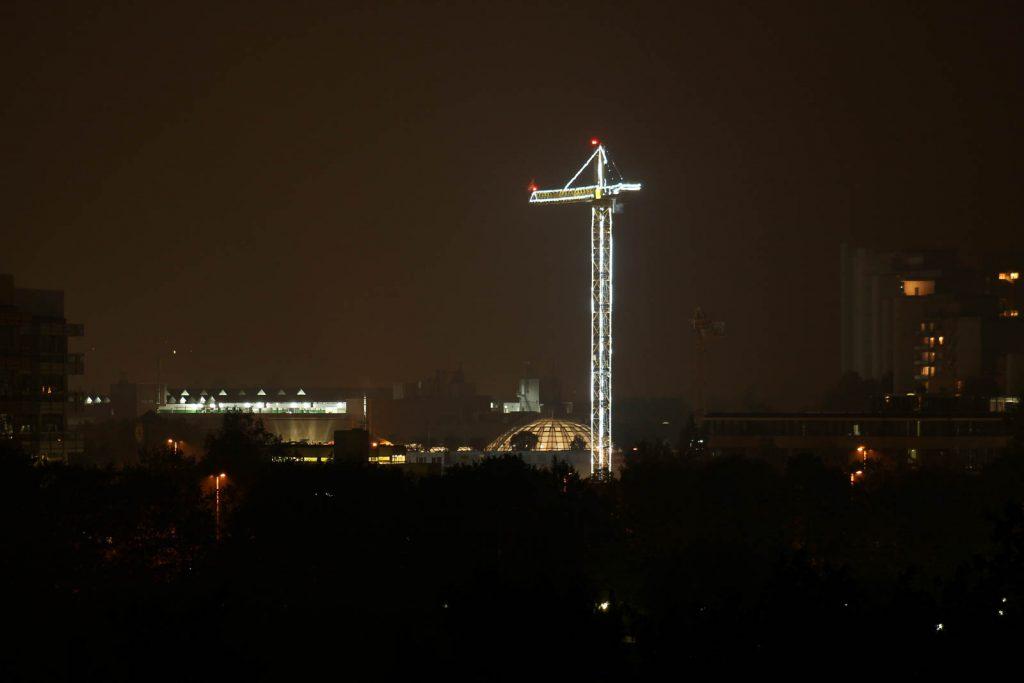 pep: Kranaufbau, Nacht