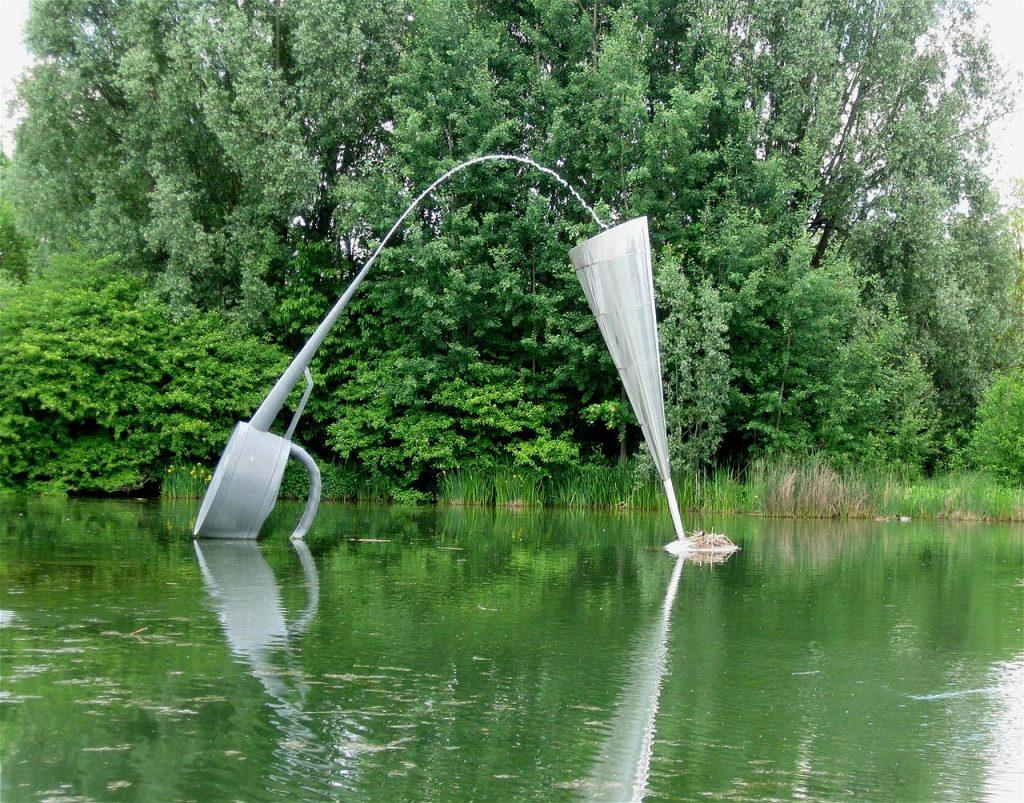 Perlach-Park, Brunnen in Betrieb