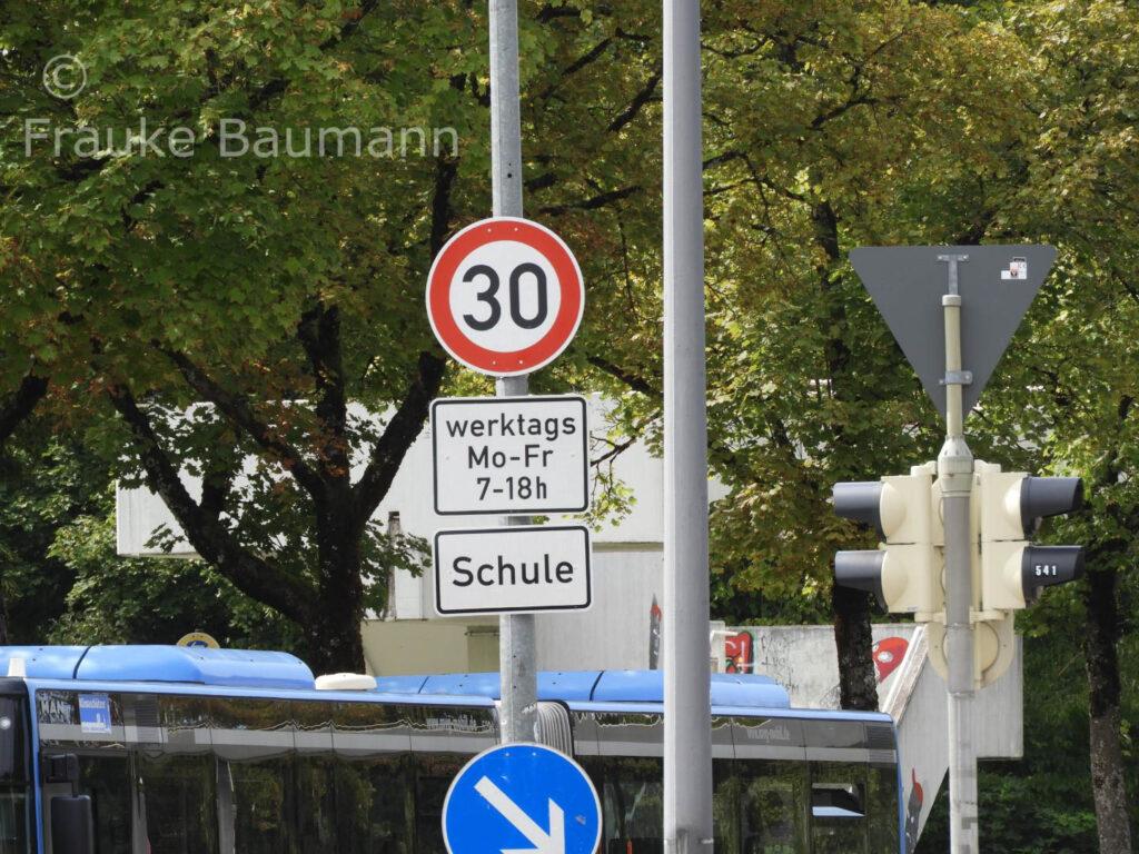 Tempo 30 km/h Schulzentrum Nord