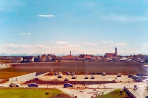 Blick vom Strehleranger Richtung Perlach 1969 1970