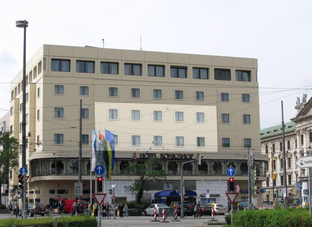 Hotel Königshof – Montage aktueller und erster Bau