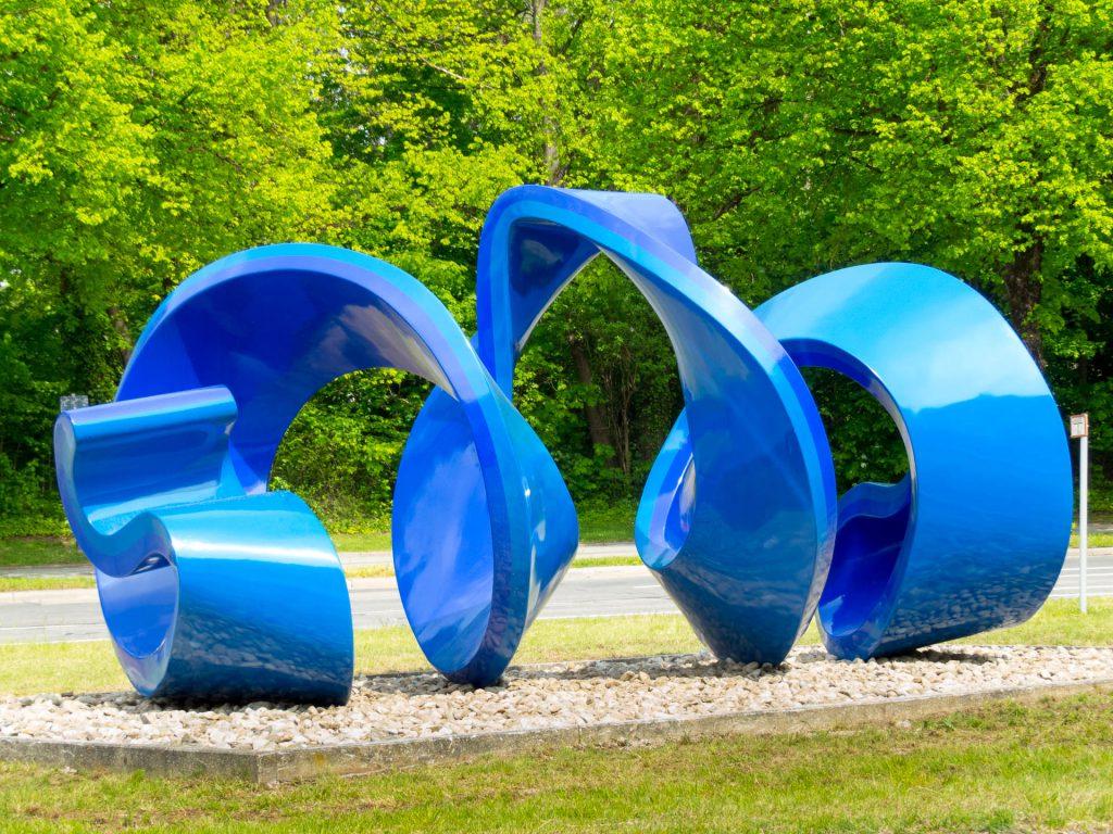 Blaue Spirale nach Sanierung