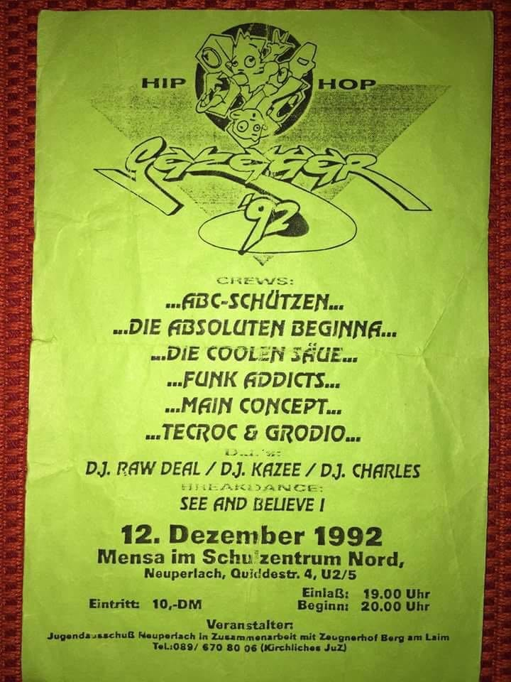 Flyer Mensa 1992
