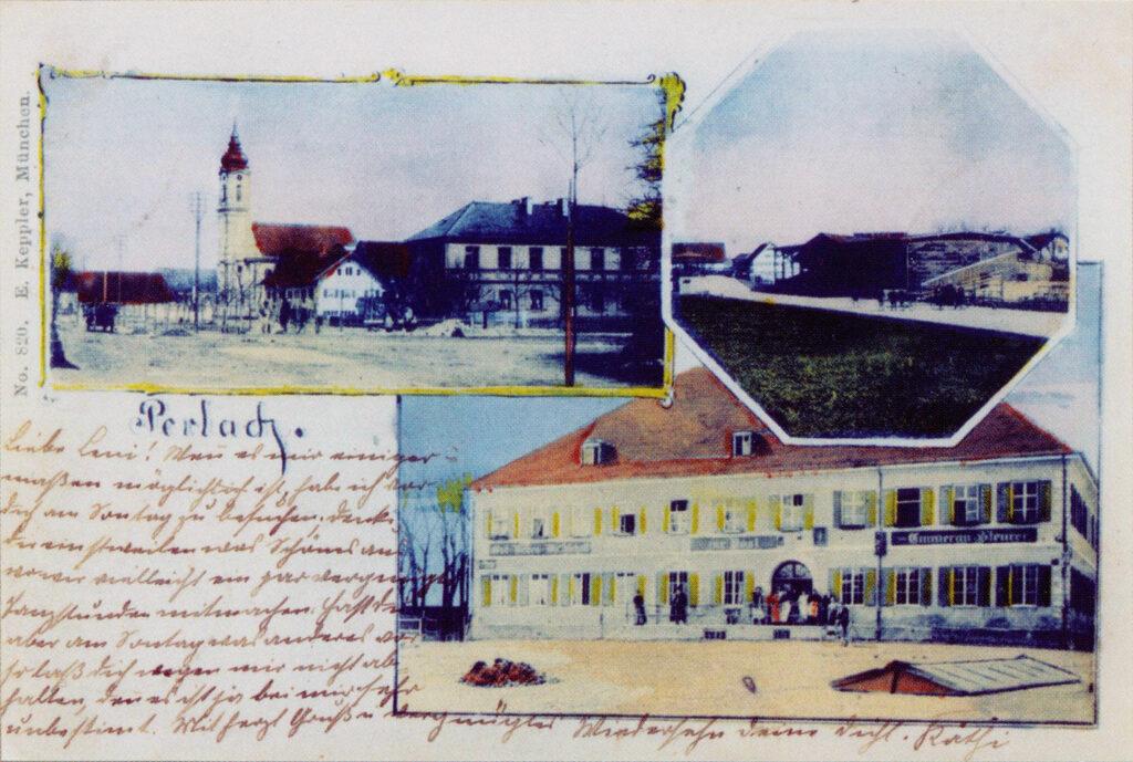 Gasthaus zur Post Perlach um 1900