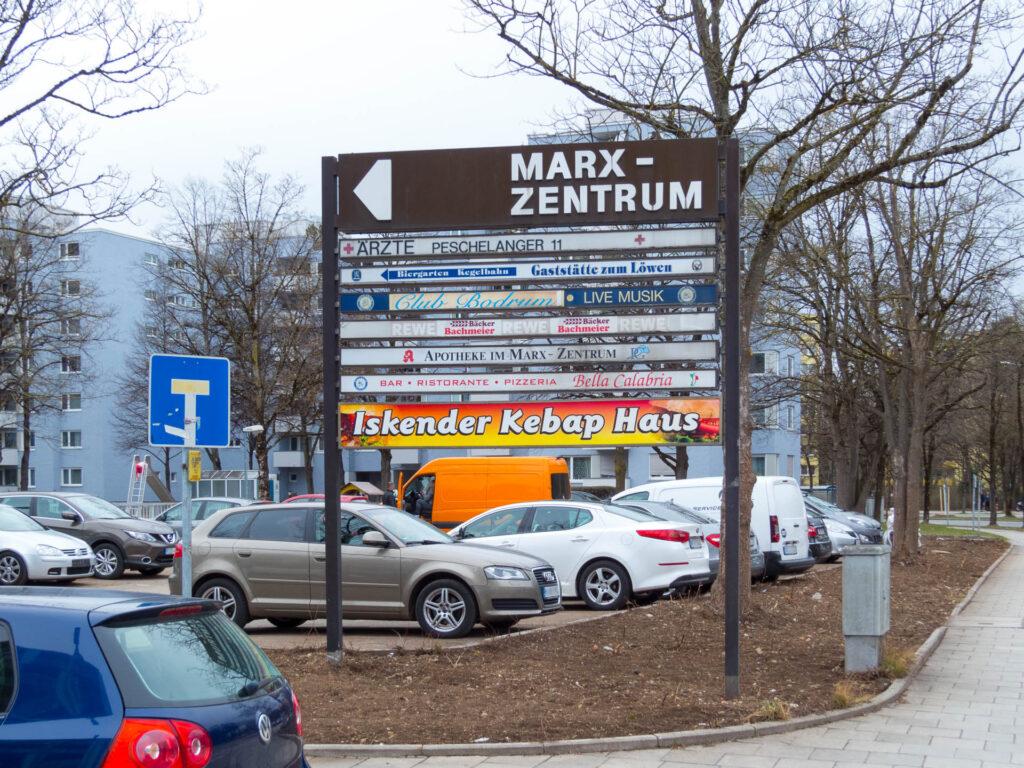 Ladenwegweiser Marx-Zentrum