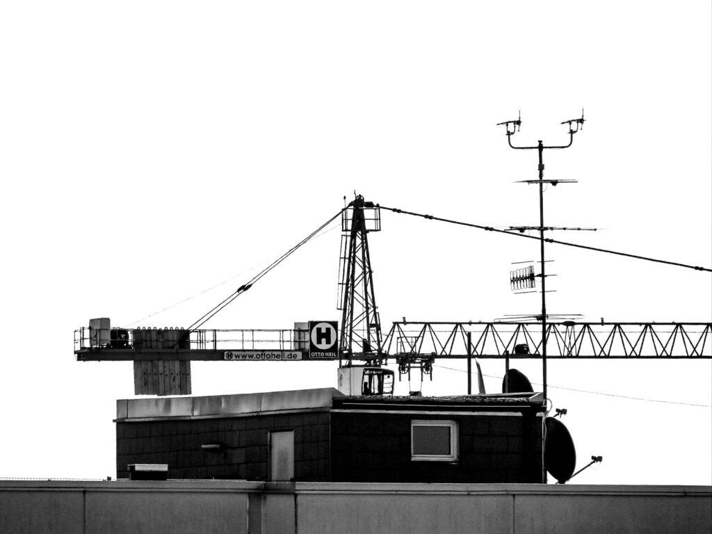 Kran und Antennen